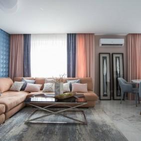 Вместительный диван модульного типа