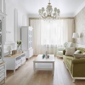 Стильная мебель в маленькой гостиной