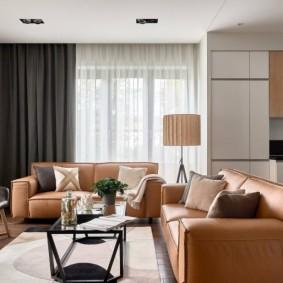 Мягкая мебель с обивкой из эко-кожи
