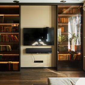 Шкафы для хранения домашней библиотеки