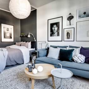 Зонирование цветом интерьера комнаты