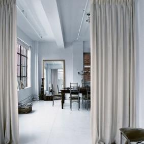 Плотные шторы из натуральной ткани