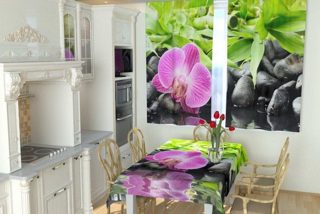 фотошторы для кухни фото дизайна