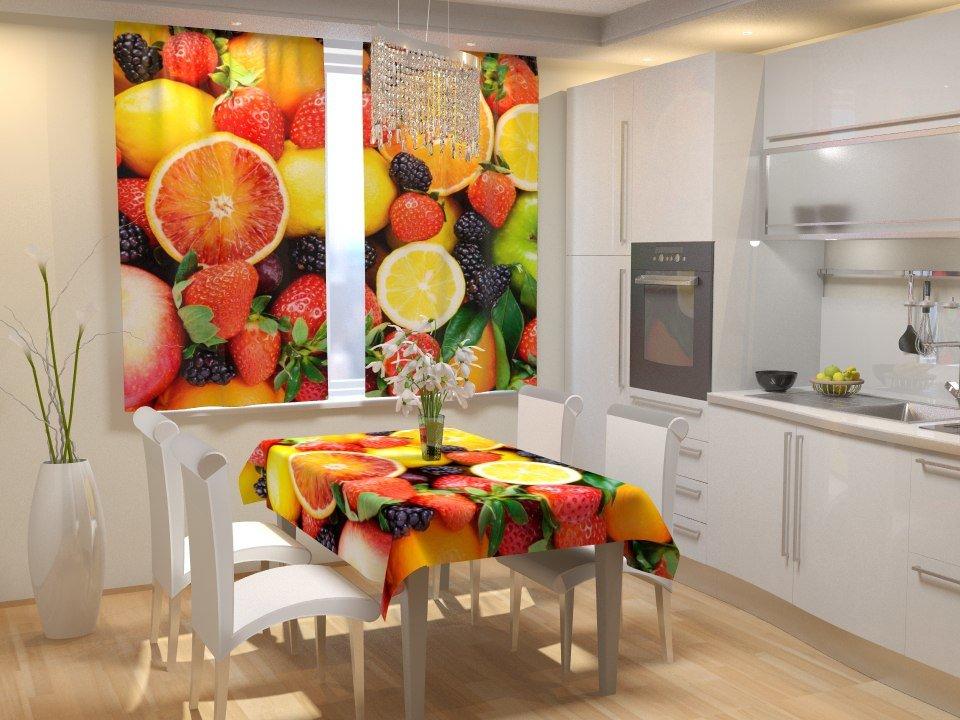 фотошторы для кухни идеи дизайн