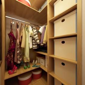 гардеробная комната 4 кв м фото