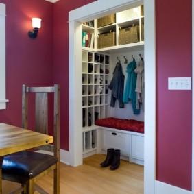 гардеробная комната 4 кв м оформление идеи