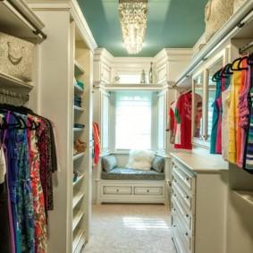 гардеробная комната 4 кв м фото оформление