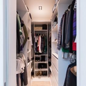 гардеробная комната 4 кв м оформление