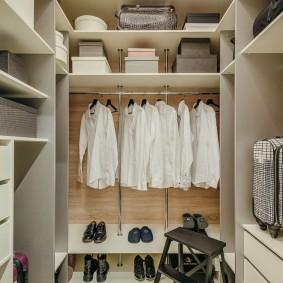 гардеробная комната в квартире оформление фото