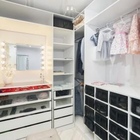 гардеробная комната в квартире виды