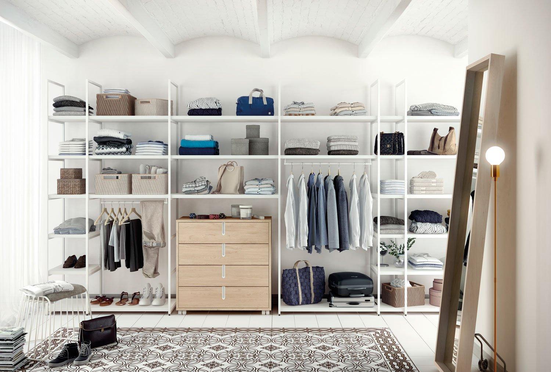 гардеробная в скандинавском стиле