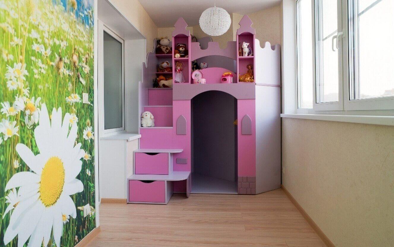 игровая зона для детей на балконе