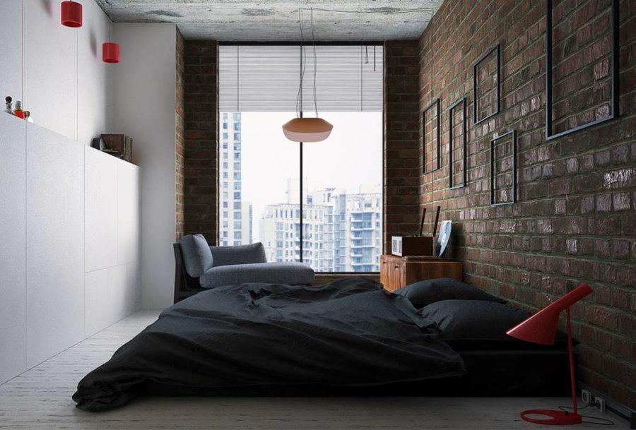 Матрас-кровать в интерьере спальни молодого человека