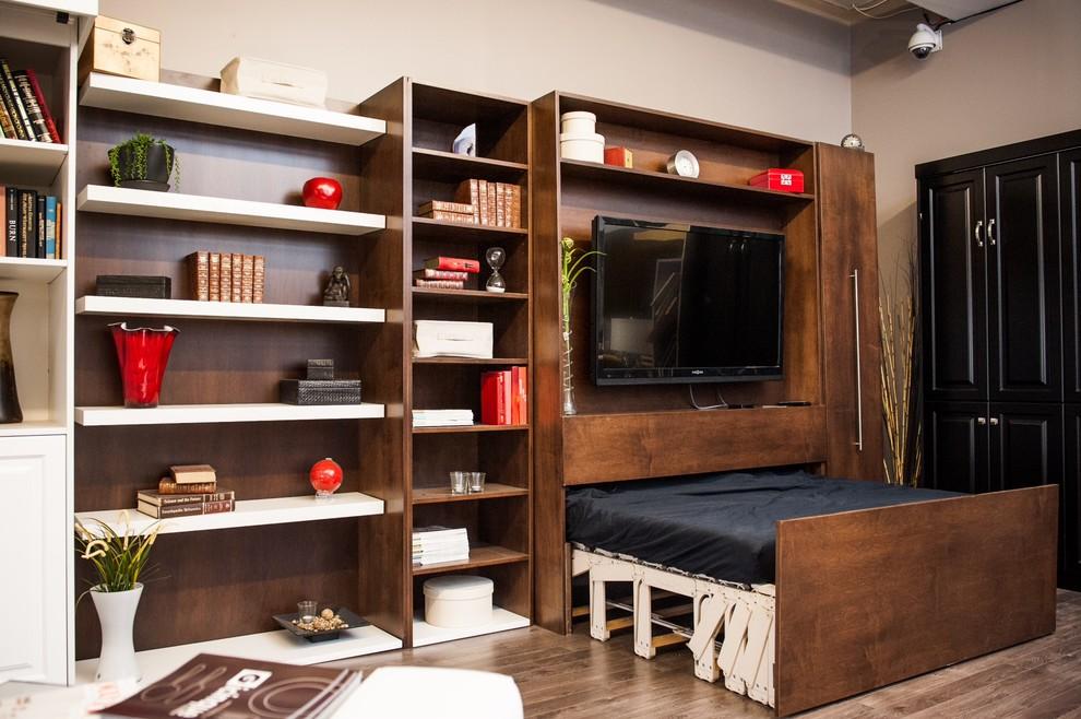 Выдвижная кровать в маленькой квартире