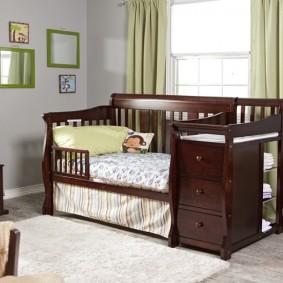кроватка с пеленальным столиком дизайн идеи