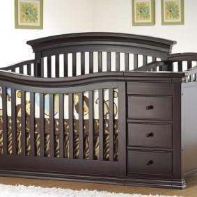 кроватка с пеленальным столиком фото декор