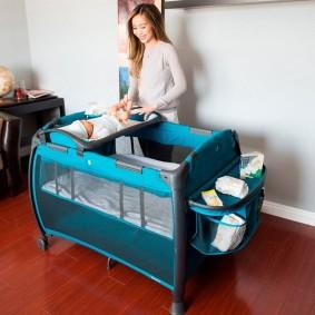 кроватка с пеленальным столиком идеи интерьера