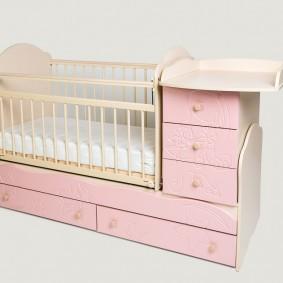 кроватка с пеленальным столиком варианты фото