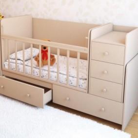 кроватка с пеленальным столиком виды оформления