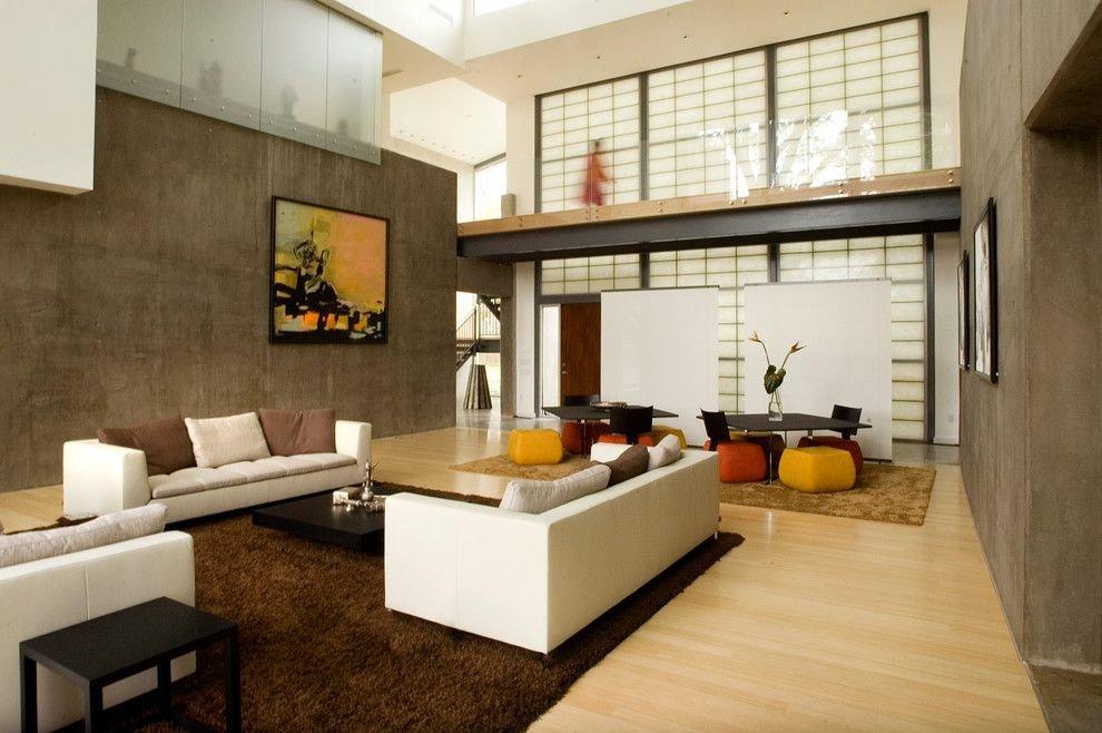 Интерьер гостиной комнате в стиле японского минимализма