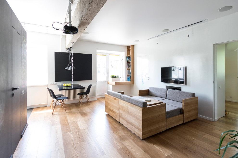 Модульная мебель в гостиной комнате квартиры