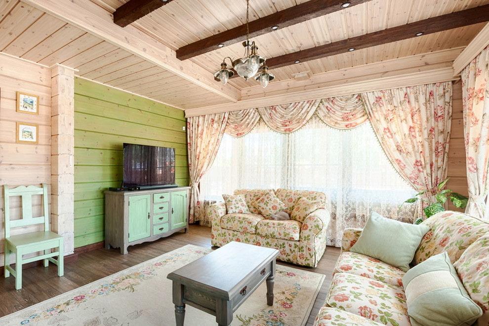 Мягкая мебель для гостиной в деревенском стиле