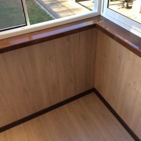 отделка балкона ламинатом дизайн идеи