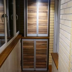 отделка балкона ламинатом декор