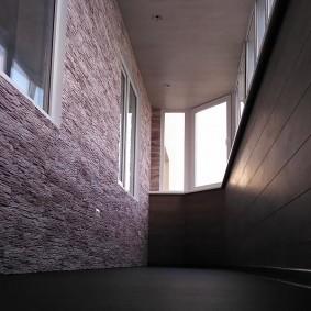 отделка балкона ламинатом фото интерьера