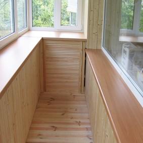 отделка балкона ламинатом интерьер идеи