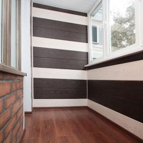 отделка балкона ламинатом идеи интерьер