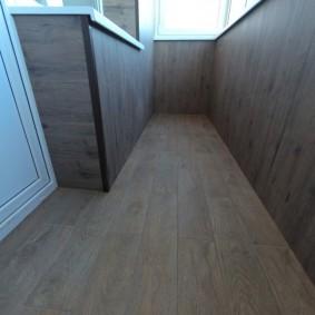 отделка балкона ламинатом варианты