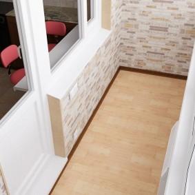 отделка балкона ламинатом фото виды