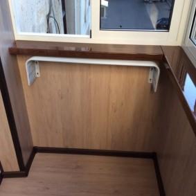 отделка балкона ламинатом виды дизайна