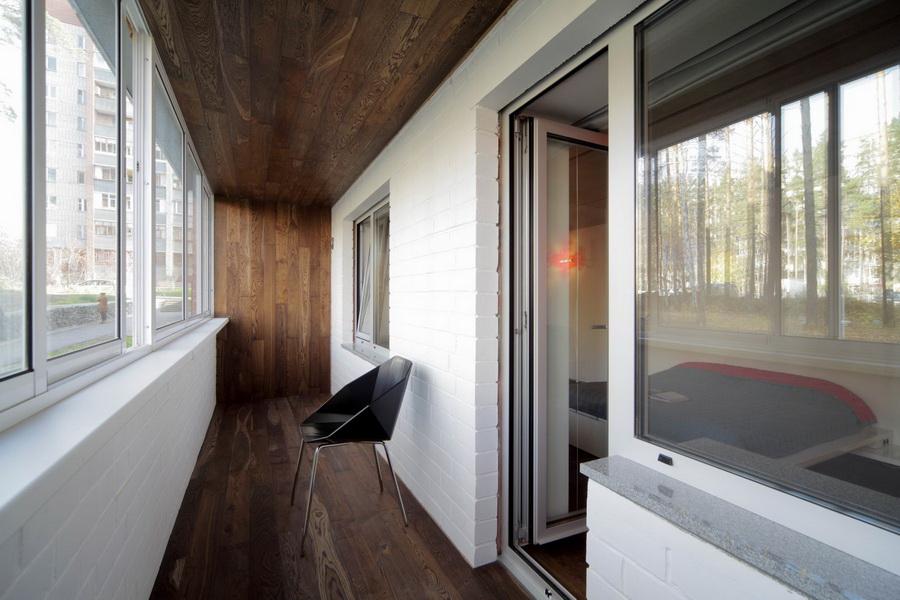 отделка балкона ламинатом правила и способы