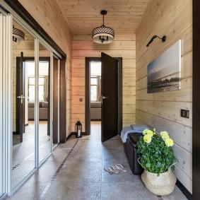 отделка стен прихожей в частном доме идеи дизайна