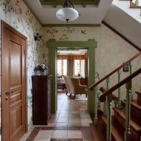 отделка стен прихожей в частном доме декор
