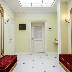 отделка стен прихожей в частном доме идеи оформление