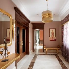 отделка стен прихожей в частном доме фото варианты