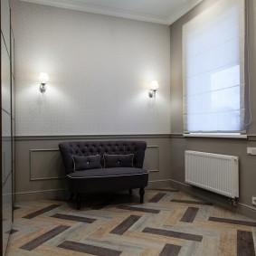 отделка стен прихожей в частном доме виды фото