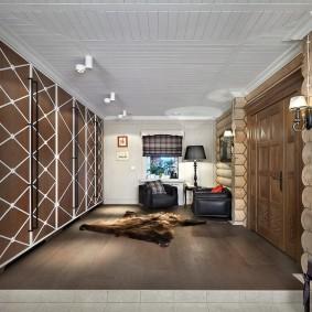 отделка стен прихожей в частном доме фото дизайна