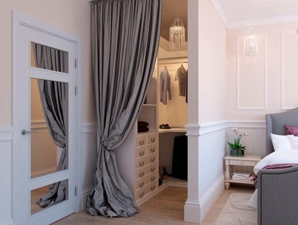 39718 Примеры оформления гардеробной в углу комнаты