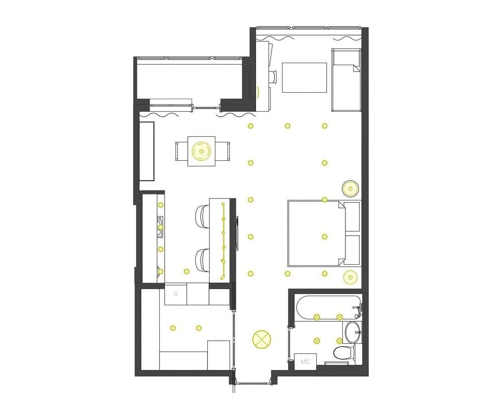 проекты однокомнатных квартир
