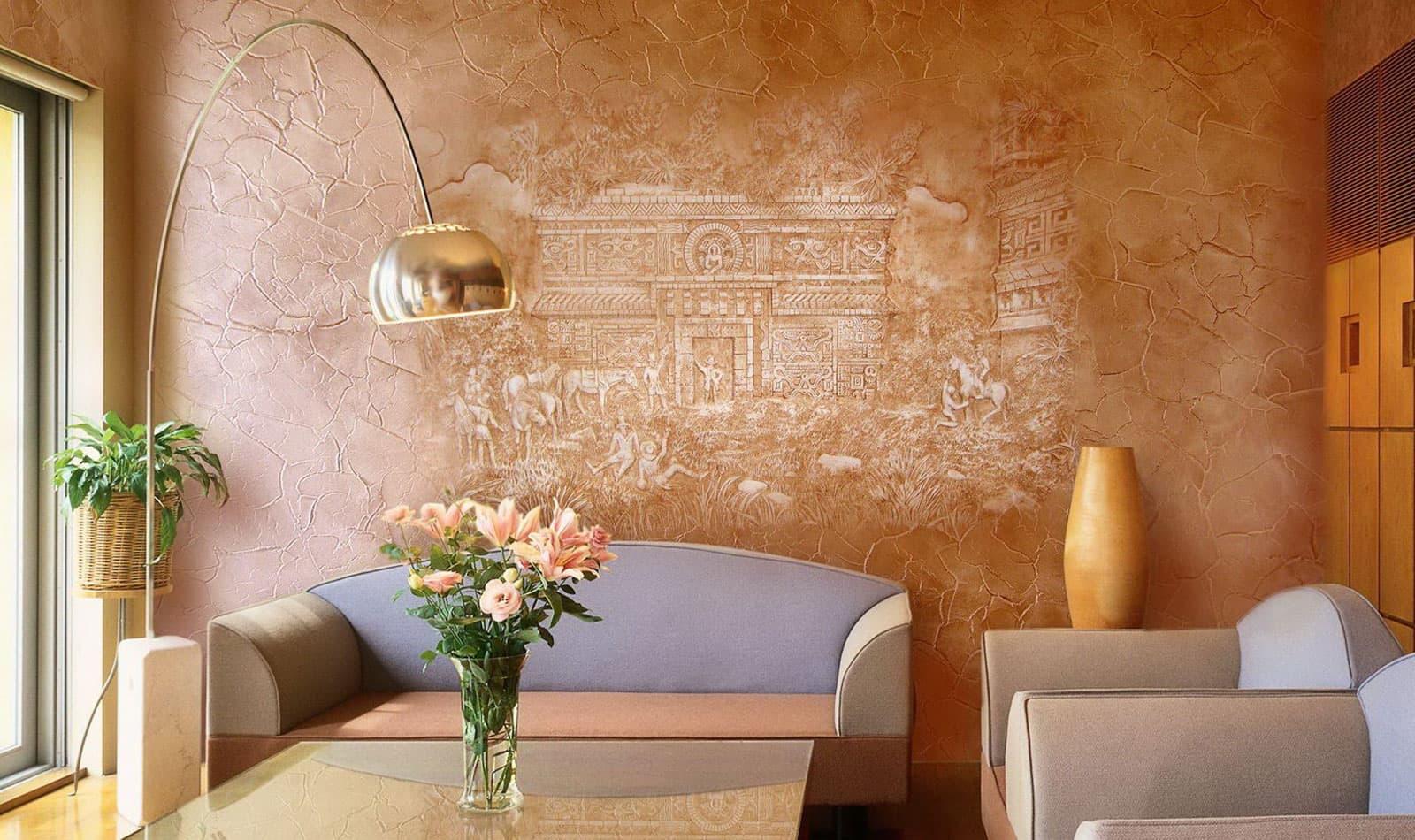 местном доме декор стен жидкими обоями фото вид