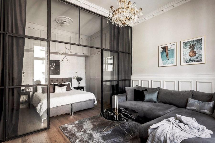 Разделение нам зоны пространства квартиры с одной комнатой