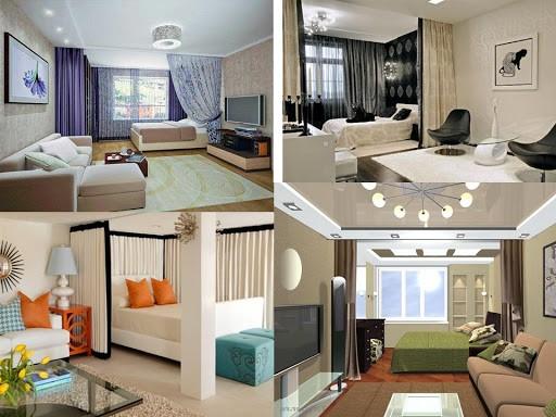 Как можно разделить помещение на две зоны отдыха