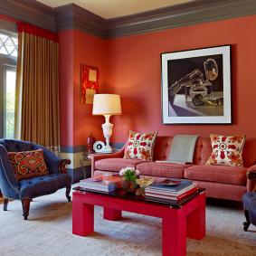 цветовая гамма для гостиной идеи