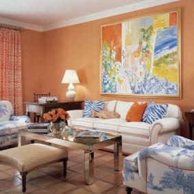 цветовая гамма для гостиной фото декор