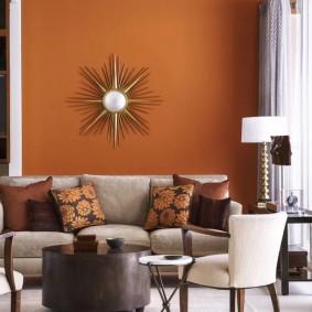 цветовая гамма для гостиной фото декора