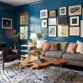 цветовая гамма для гостиной идеи интерьера